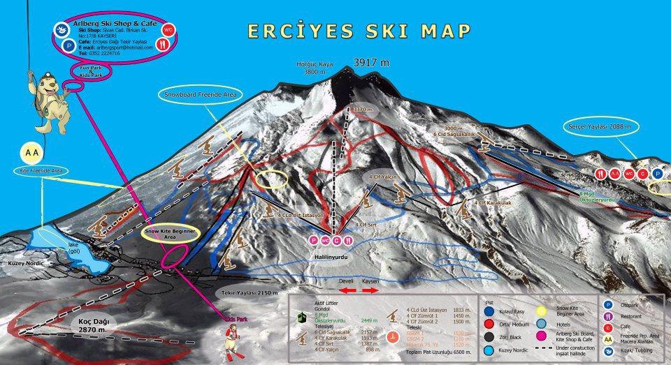 Yeni Erciyes Pist Haritasi